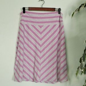 NWOT Faded Glory A-line Striped Skirt